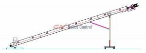 Swivel screw conveyor