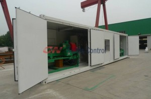 Containerized oily sludge separation system