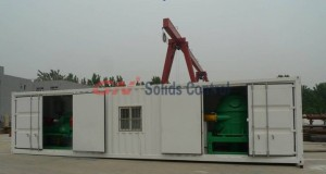 Containerized system for oily sludge separation