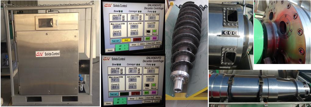 PLC smart control VFD centrifuge