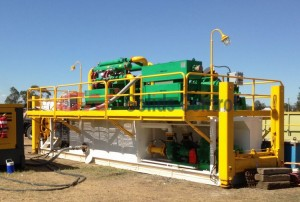 GN500 GPM mud recycling system for HDD