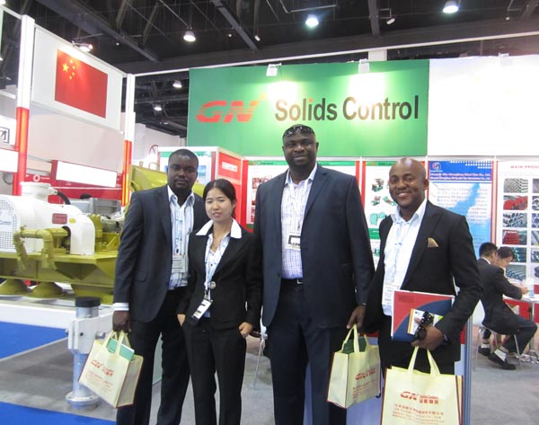 meeting with clients in abudhabi exhibition