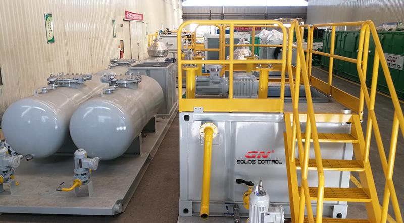 Sistema completo de tratamiento de lodos de aceite listo para su entrega