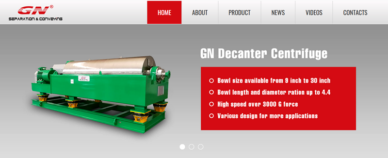 Nuevo sitio web de la compañía de equipos de transporte y separación de GN ahora en línea