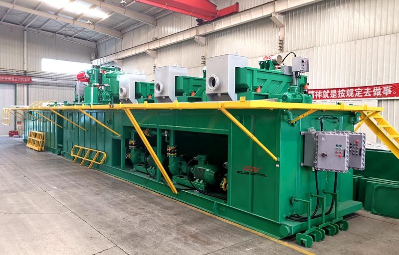 Sistema de control de sólidos de la plataforma de perforación de petróleo de 1500 HP para el cliente de India