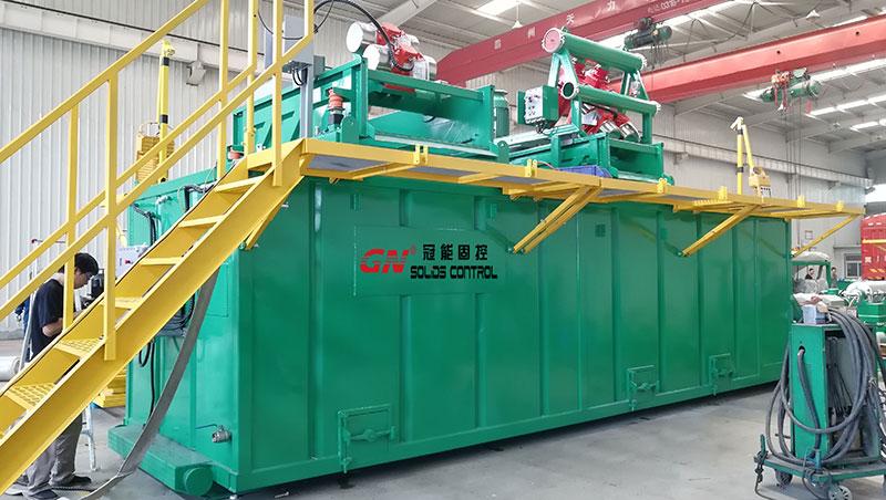 Sistema de reciclaje de lodo de perforación listo para enviar a un cliente doméstico