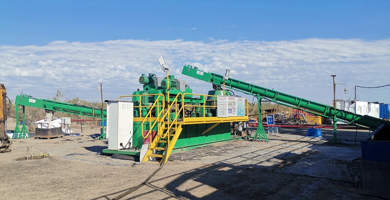 Sistema de secado de recortes de perforación a base de petróleo GN trabajó en Xinjiang