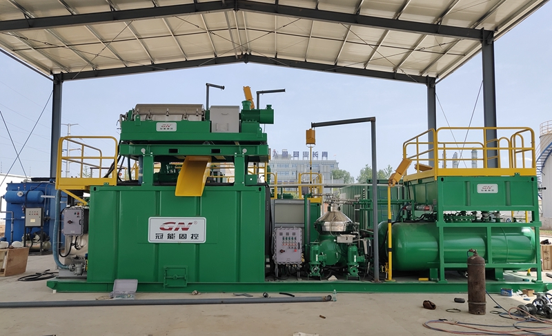 Planta de tratamiento de lodos de petróleo GN instalada en China