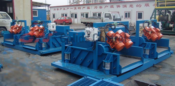 tandem shale shaker for workover rig