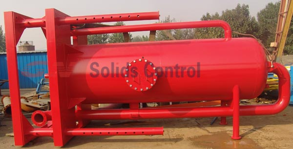 Elevating mud gas separator to Mozambique