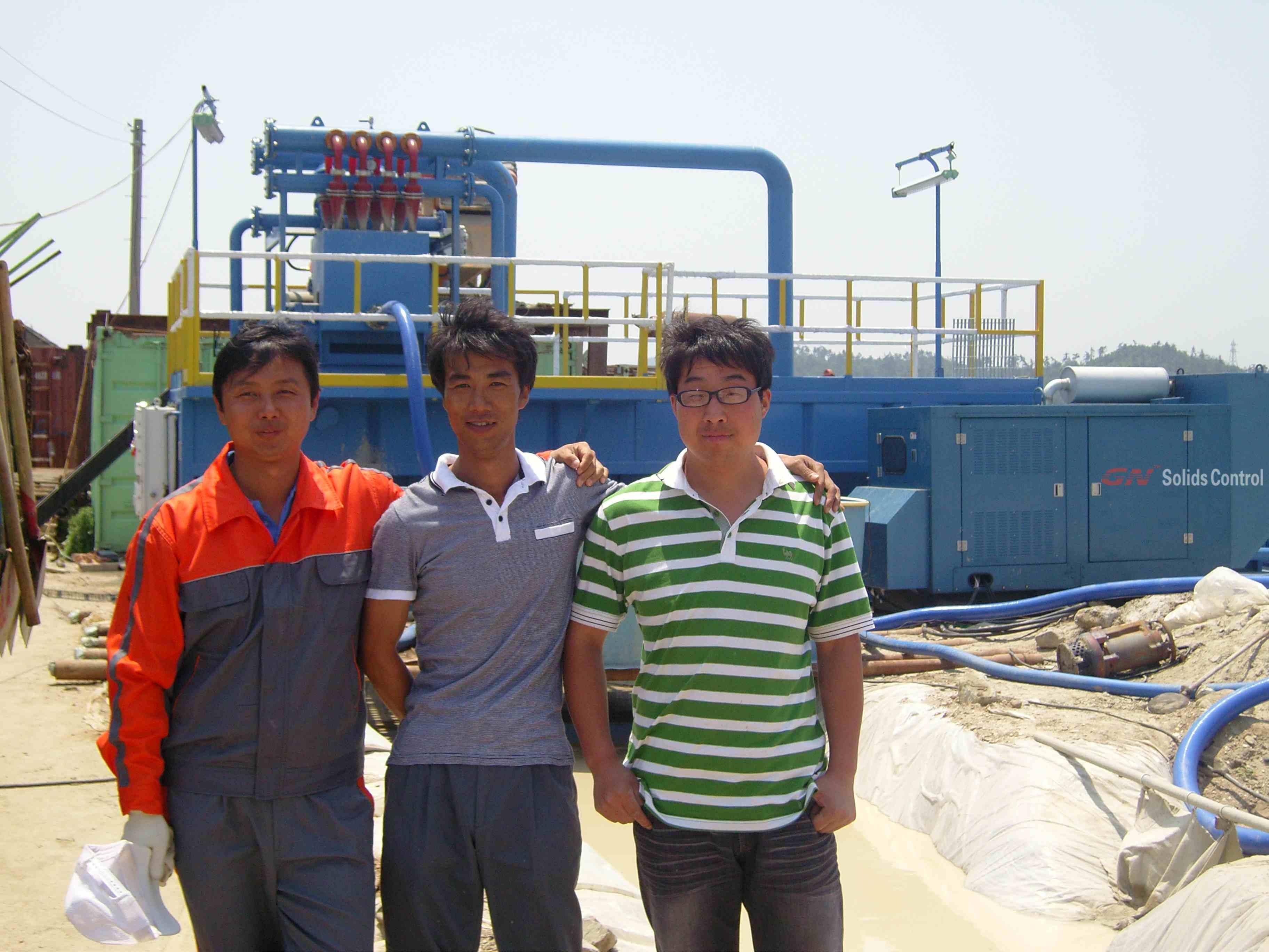 korean custumer and gn solids control engineer