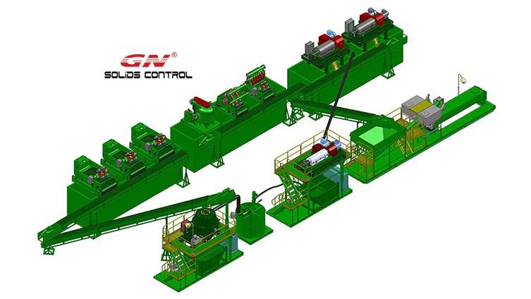 Sistema de gestión de residuos de perforación para el cliente de África
